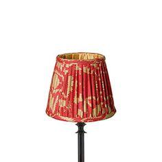 14cm Tenganan Pleated Lampshade - Red
