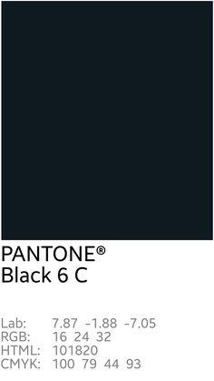 Image result for PANTONE black