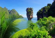 Photo Khao Phing Kan, Thailand, Ko Khao Phing Kan, James Bond Island, Ko Tapu, island, sea, palm, tropics
