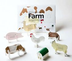 """A faire. A' Design Award and Competition - Images of Calendar 2013 """"farm"""" by Katsumi Tamura Design Poster, Book Design, Print Design, Design Design, Graphic Design Magazine, Magazine Design, Kalender Design, Paper Art, Paper Crafts"""