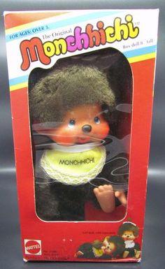 "Vintage Original Box 8"" Monchhichi Boy Monkey Doll Mattel Sekiguchi - Monchichi"