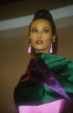 #Iman, late 80s #models
