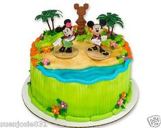 Disney Mickey Mouse & Friends Luau Party Cake Decoration Topper