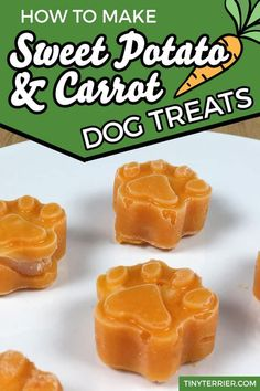 Sweet potato & carrot dog treats with a hidden chicken surprise in the middle. Whip up a batch of vegetable frozen dog treats in minutes to help keep your dog cool this summer. Healthy vegetable dog t Puppy Treats, Diy Dog Treats, Homemade Dog Treats, Healthy Dog Treats, Summer Dog Treats, Pumpkin Dog Treats, Healthy Foods, Dog Biscuit Recipes, Dog Treat Recipes