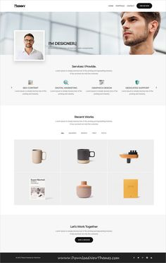 Thinny is clean and modern design responsive #bootstrap HTML #template for personal onepage #resume and #portfolio showcase website to download & live preview click on image or Visit