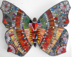 Mosaic butterfly. Catherine Van Giap Freshwater Mosaics