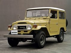 Toyota Land Cruiser (1973 – 1979). My Dad had this color and a white one.