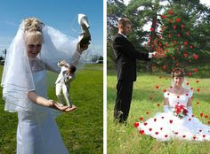 Bad wedding photo edits.  Just because you can, doesn't mean you should...