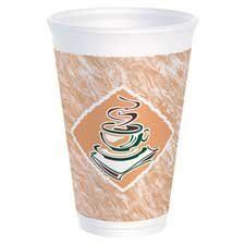 Dart Container Corp. Products - Foam Cups, 16 oz., 1000/CT - Sold as 1 CT - Foam cups eliminate the need for double-cupping to avoid burning your fingers. Keep hot beverages hot and cold beverages cold while remaining comfortable to the touch. Premium line of insulated Thermo-Glaze cups keeps beverages fresher longer with an upscale look of a cafe design. by Dart Container C.... $59.81. Dart Container Corp. Products - Foam Cups,  16 oz.,  1000/CT - Sold as 1 CTFoam cups...