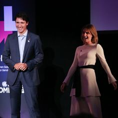 Emma Watson shared a laugh with Canadian Prime Minister Justin Trudeau during the HeForShe 2nd Anniversary Reception at Museum of Modern Art in NYC.