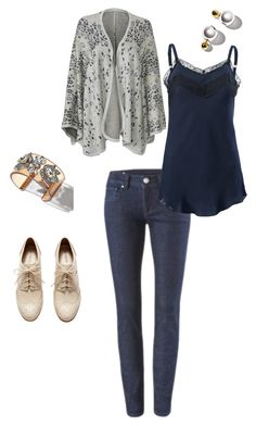"""cabi Gigi cape, lace walk cami, knight skinny jeans AND cabi jewelry!"" by natasia-chanel-tomlinson on Polyvore www.rebeccafrerking.cabionline.com"