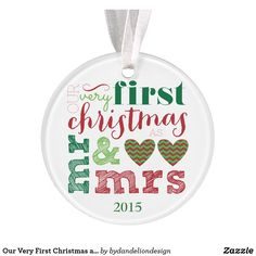Our Very First Christmas as Mr & Mrs Custom Ornament Wedding Christmas Ornaments, Diy Christmas Garland, Crochet Christmas Ornaments, Glitter Ornaments, First Christmas Ornament, Christmas Bulbs, Christmas Decorations, Christmas Ideas, Ornaments Ideas