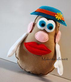 Mr. Potato Head Busy Bag- pieces made from felt