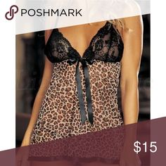 Sexy Leopard Lace Babydoll Lingerie Brand new fits a small Intimates & Sleepwear