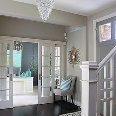 How awesome are these sliding French Doors?!! Beautiful home of @lifeonvirginiastreet