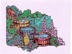 Barrel Waterfall by inkieannie on Etsy, $3.75