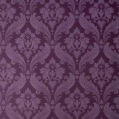 Graham & Brown 56 sq. ft. Vintage Flock Purple Wallpaper-30-382 at The Home Depot