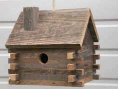 Log Cabin 10 in x 10 in x 8 in Birdhouse