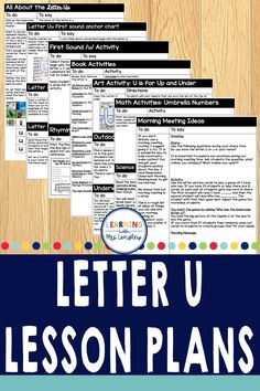 This full week of Letter U lesson plans for your preschool or kindergarten classroom is engaging and easy to prep. Preschool students and kindergarten students alike will benefit from these lessons that reading, math, art, science, outdoor activity ideas and snacks to tie into the letter of the week. Letter Identification, Letter Of The Week, Teaching Letters, Math Art, Activities To Do, Activity Ideas, Kindergarten Classroom, Anchor Charts, Small Groups