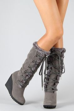 Boot Heels, Heeled Boots, Shoe Boots, Ankle Boots, Knee High Wedge Boots, Wedge Heels, High Wedges, Stitch Fix Outfits, Snow Boots Women