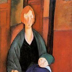 Amadeo Modigliani, 'Seated Woman with Child (motherhood)' (1919)