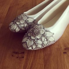 8bfd353ac5f3 SALE - wedding shoes size 8 white French knot Bridal Ballet Flats