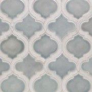 Nabi Arabesque Arctic Blue Marble And Ceramic Tile Bath Girls, Tile Installation, Kitchen Tile, Color Blending, Arabesque, Wall Tiles, Arctic, Mosaic, Marble