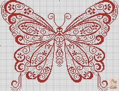 Cross stitching sheme - butterfly