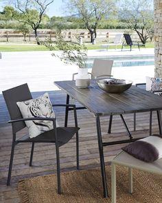 Table de jardin pliante bois et métal Sohan La Redoute Interieurs ...