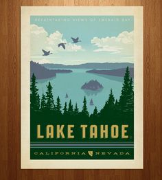 Lake Tahoe Art Print | Art Prints | Anderson Design Group | Scoutmob Shoppe | Product Detail
