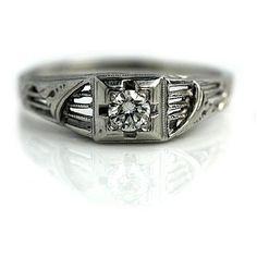 Antique Engagement Ring #weddings #weddingring