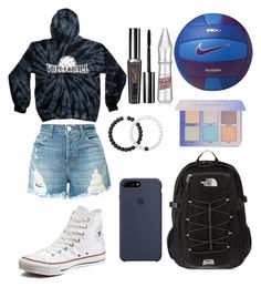 """volleyball"" by beautybyemilyl on Polyvore featuring J Brand, Converse, Lokai, The North Face, Benefit and NIKE"