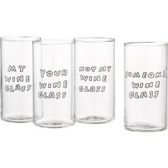 Who's Wine Glass 9oz | CB2