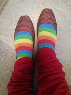 Neon socks and khussa