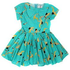 Morley Bow Dress in Bird Print #ladida #ladidakids