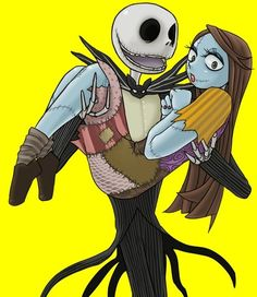 Jack and Sally Sally Skellington, Tim Burton Characters, Sally Nightmare Before Christmas, Ghost Cat, Jack And Sally, Lilo Stitch, Beautiful Mind, Best Couple, Christmas Art