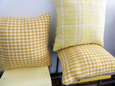 Handwoven cushions by Ilse Acke
