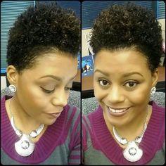 Natural Hair: Wash n Go Tapered TWA