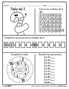 Teaching Subtraction, Math Multiplication, Teaching Math, Homeschool Worksheets, Math Resources, Math Activities, Math Sheets, School Organization Notes, English Lessons For Kids
