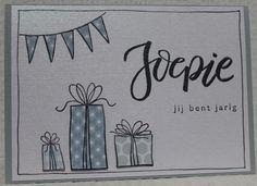 Gemaakt door Joke # Kaart met stempels Karin Joan