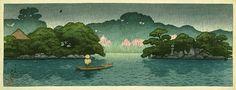 Kawase Hasui (1883-1957): Boat in Spring Rain, 1920