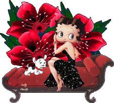 Betty Boop sentada en el diván