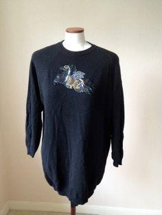 Vintage jumper 1980s 100 lambswool peagsus by TheDanceAndDress, £25.00