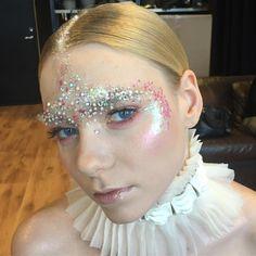 "78 Likes, 2 Comments - Liisa-Chrislin Saleh (@lisasalvaje) on Instagram: ""When 70s glam meets frozen fairy 💎❄️💎 #behindthescenes makeup look for @virukeskus holiday shoot…"""