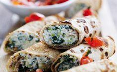 Pandekager med spinat