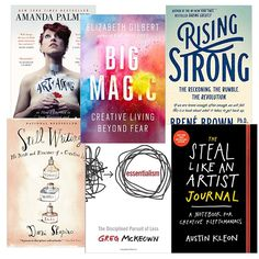 Creative Success Giveaway - 6 books creatives must read! Epic giveaway for writers, designers, artists, creators, and makers. Ends soon! Click through to enter to win all six books! Includes Big Magic: Creative Living Beyond Fear by Elizabeth Gilbert and the Steal Like An Artist journal.