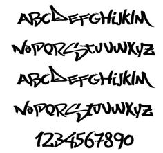 A-Z Graffiti Fonts and Number. Letters alphabet graffiti style unique, new style of graffiti fonts. Font Styles Alphabet, Graffiti Alphabet Styles, Graffiti Names, Graffiti Lettering Fonts, Graffiti Doodles, Graffiti Writing, Lettering Styles, Script Lettering, Typography Logo