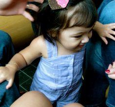 Cuban guayabera romper for baby