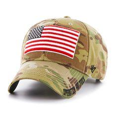 ff4009346da Operation Hat Trick Myers MVP Multicam 47 Brand Adjustable USA Flag Hat