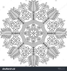 Find Beautiful Folk Art Motif stock images in HD and millions of other royalty-free stock photos, illustrations and vectors in the Shutterstock collection. Embroidery Map, Hungarian Embroidery, Learn Embroidery, Embroidery Patterns, Scandinavian Folk Art, Embroidery Techniques, Craft Patterns, Needlework, Stencil